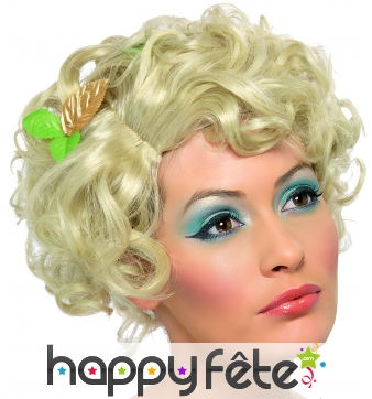 Perruque bouclée fairy blonde