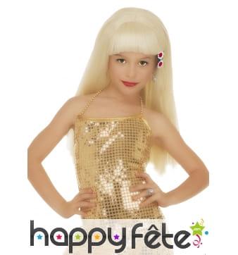 Perruque blond glamour pour enfant
