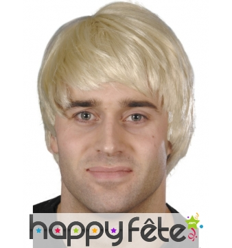 Perruque blonde homme