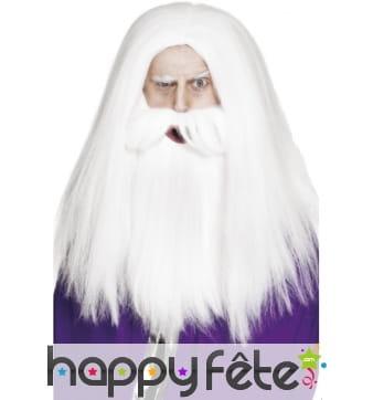 Perruque barbe magicien