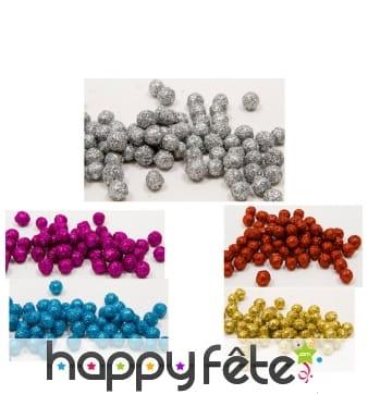 Petites boules pailletées décoratives