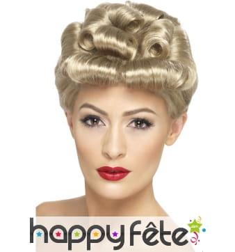 Perruque blonde vintage années 40