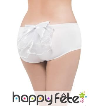 Petite culotte burlesque blanche