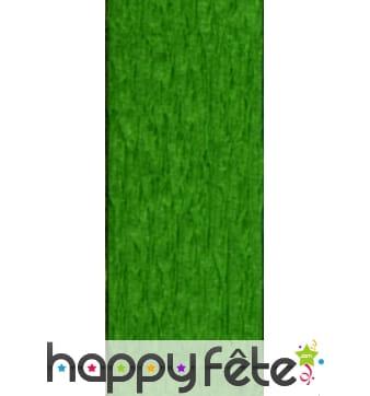 Papier crêpe décor vert clair de 0,70 x10 m