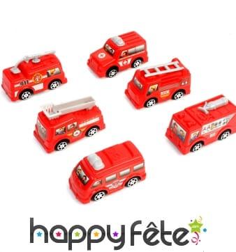 Petit camion de pompier rouge de 65mm