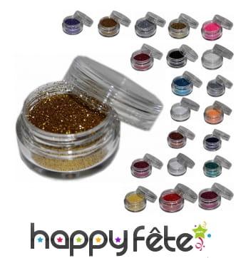 Paillettes cosmétiques en pot de 5ml
