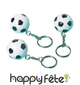 Portes clefs en forme de ballons de foot, par 12