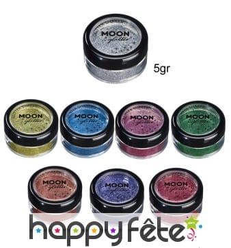 Paillettes cosmétique fines en pot de 5gr