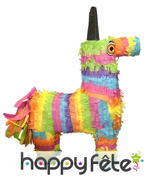 Pinata cheval multicolore