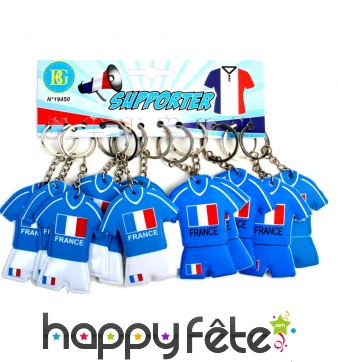 Portes clefs maillot foot France