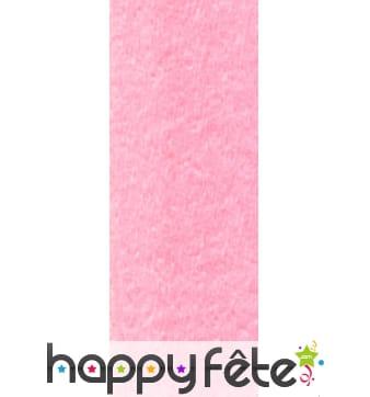 Papier crepon rose pâle de 50 x 200 cm