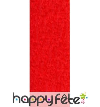 Papier crepon rouge de 50 x 200 cm