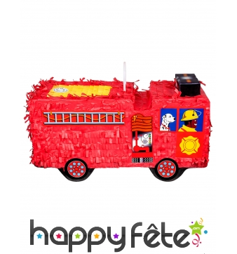 Pinata Camion rouge de Pompier