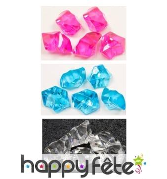 Pierres cristal transparentes décoratives