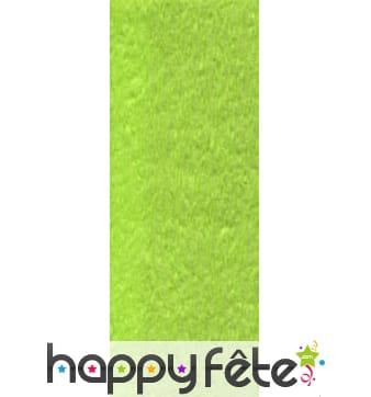 Papier crepon vert anis de 50 x 200 cm