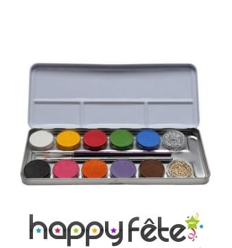 Palette de 12 maquillages avec paillettes