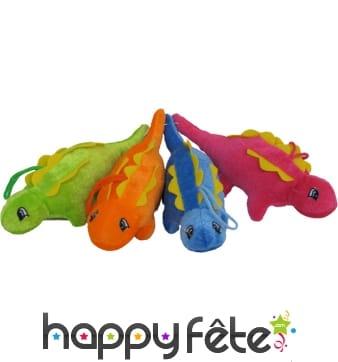 Peluche dinosaure 4 couleurs assortis