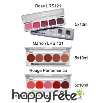 Palette de 5 rouges à lèvres