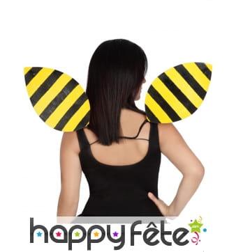 Paire d'ailes abeille pour adulte