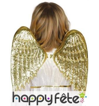 Paire d'ailes d'ange dorées pour enfant