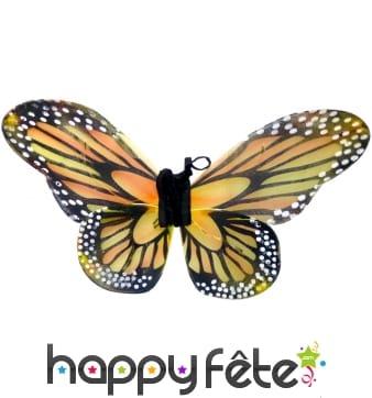 Paire d'Ailes de papillon decorées pour adulte