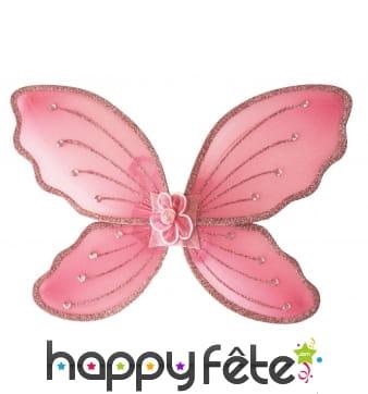 Paire d'ailes roses pour enfant