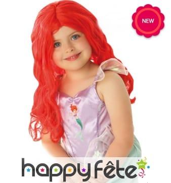 Perruque de Ariel la petite sirène pour enfant