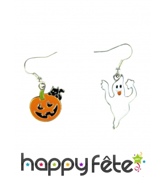 Paire de boucles d'oreille Halloween assorties