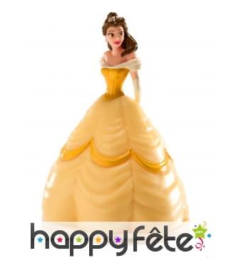 Personnage de Belle en robe de bal de 8cm