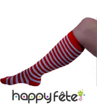 Paire de chaussettes de clown rouges