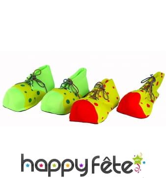 Paire de chaussures de clown à pois pour adulte