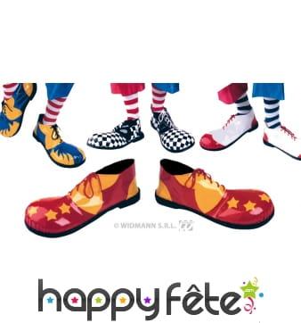 Paire de chaussures de clown pour adulte