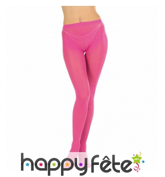 Paire de collants fuchsia opaque
