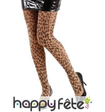 Paire de collants léopard