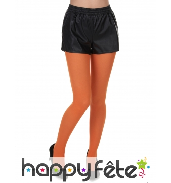 Paire de collants orange opaques