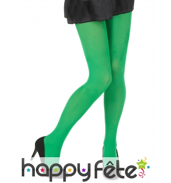 Paire de collants verts uni de 40 deniers