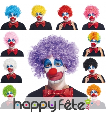 Perruque de clown pour adulte