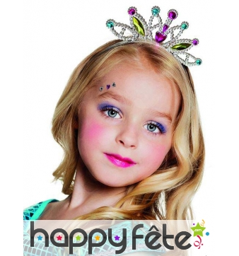 Petit diadème coloré de princesse pour enfant