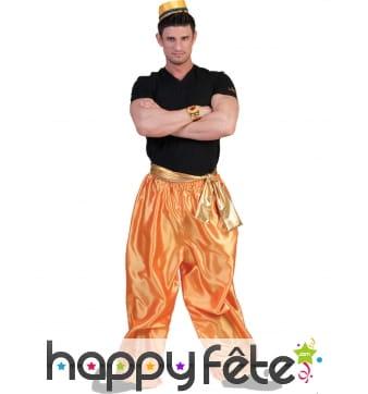 Pantalon doré de danseur oriental pour homme