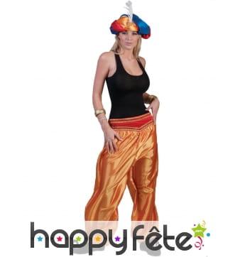 Pantalon doré de danseuse orientale pour femme