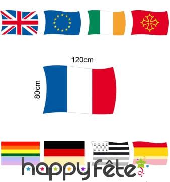 Pavillon drapeau de 80 x 120cm
