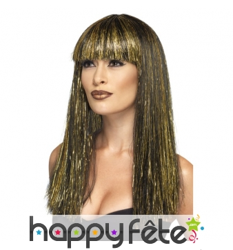 Perruque de déesse Egyptienne dorée
