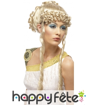 Perruque de déesse romaine blonde