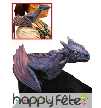 Petit dragon Drogon d'épaule, Game of thrones