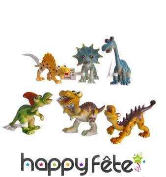 Petit dinosaure en plastique amusant de 10cm
