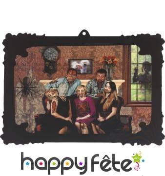 Portrait de famille zombie lenticulaire 3D