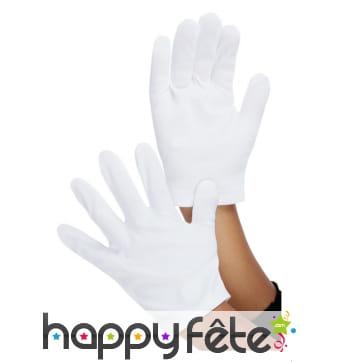 Paire de gants blancs pour enfant