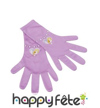 Paire de gants Raiponce pour enfant