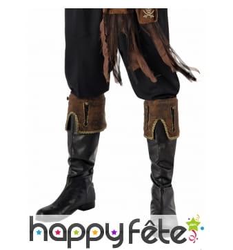 Paire de hauts de bottes marron de pirate