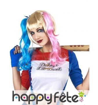 Perruque de Harley Quinn pour adulte